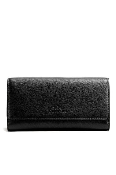 best website 8d242 b81b3 COACH กระเป๋าสตางค์ F53708 TRIFOLD WALLET IN PEBBLE LEATHER ...